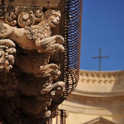 Noto baroque balcony